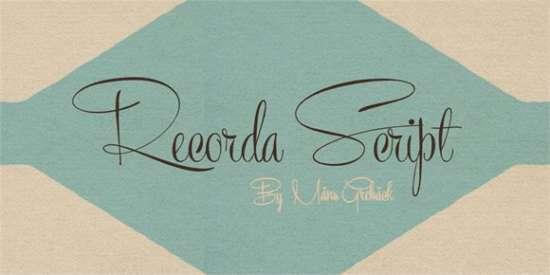 recorda_script_font