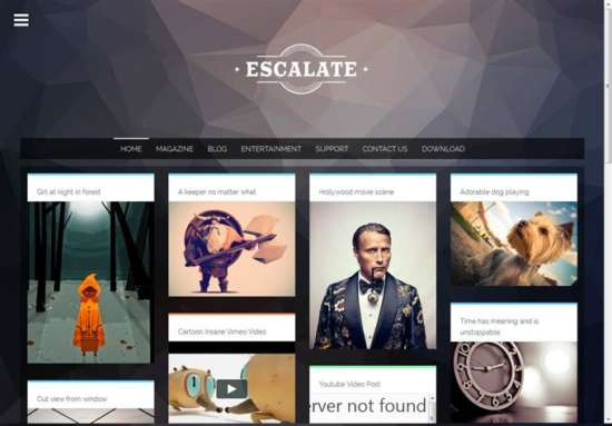 escalate_photography_blogger_template_screenshot