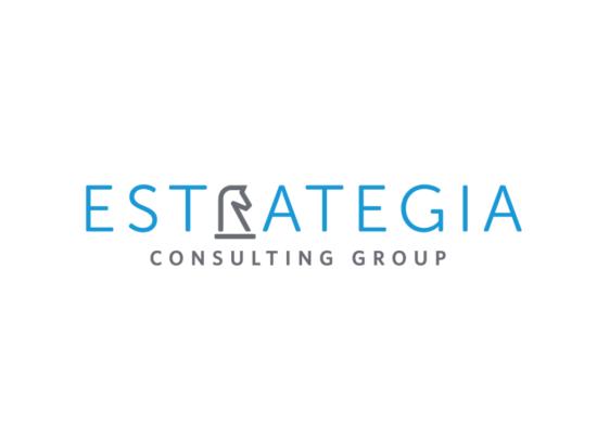 Estrategia logo design