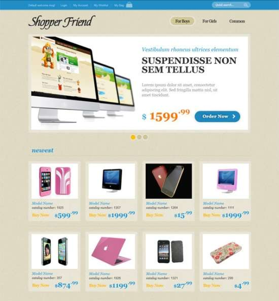 ecommerce website css template with jquery slider ecommerce_website_css_template_with_jquery_slider