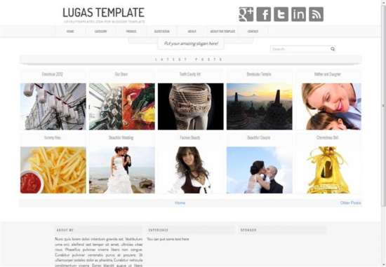 lugas_photo_blogger_template_screenshot