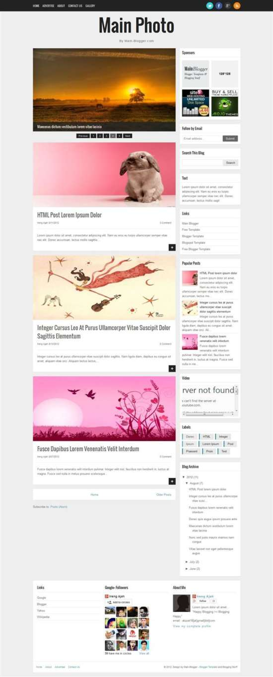 main_photo_responsive_blogger_template_screenshot