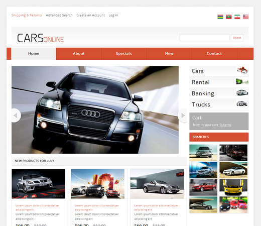 cars_online_automobile_mobile_website_template