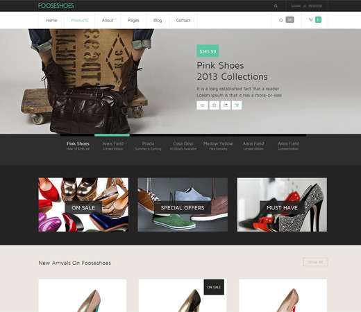 fooseshoes_a_flat_ecommerce_responsive_web_template