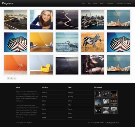 pegasus_blogger_template_screenshot