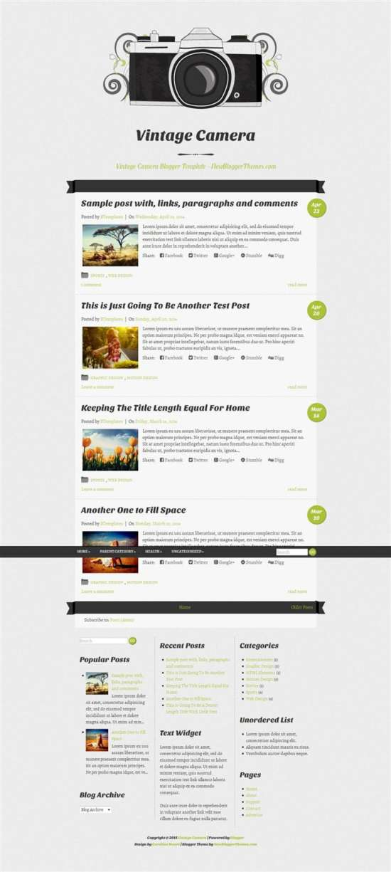 vintage_camera_responsive_blogger_template_screenshot