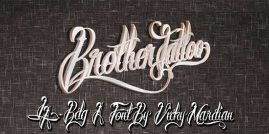 brother_tattoo_font
