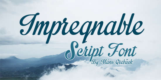 impregnable_caligraphy_font