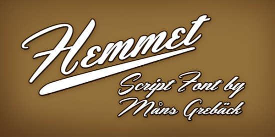 hemmet_caligraphy_font