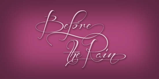 before_the_rain_calligraphy_font