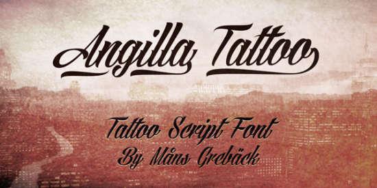 angilla_tattoo_calligraphy_font