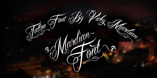 mardian_calligraphy_font
