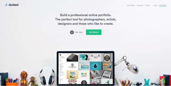 dunked_free_website_portfolio_builder
