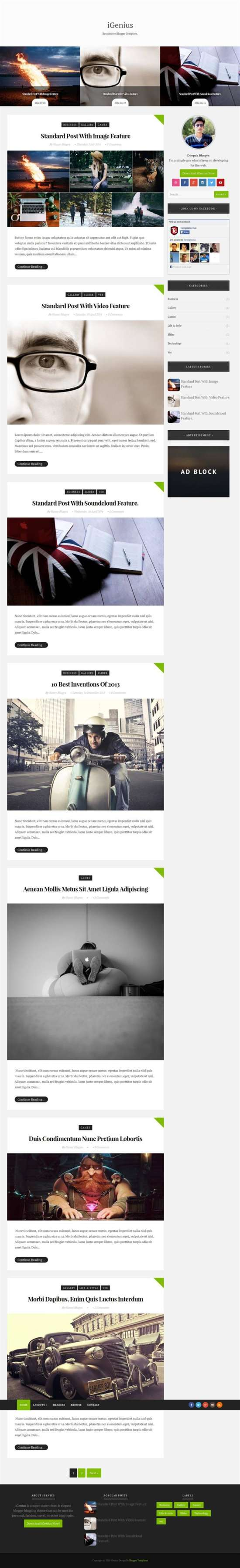 igenius_blogger_template_screenshot