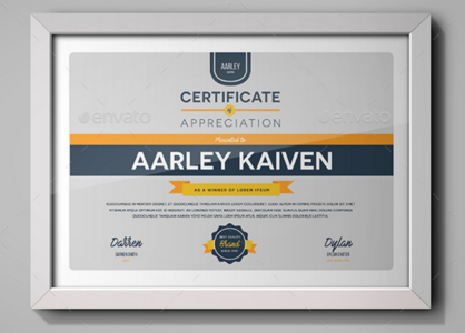 Simple Multipurpose Certificates Template