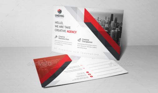 20 free printable postcard templates xdesigns corporate postcard template accmission Choice Image