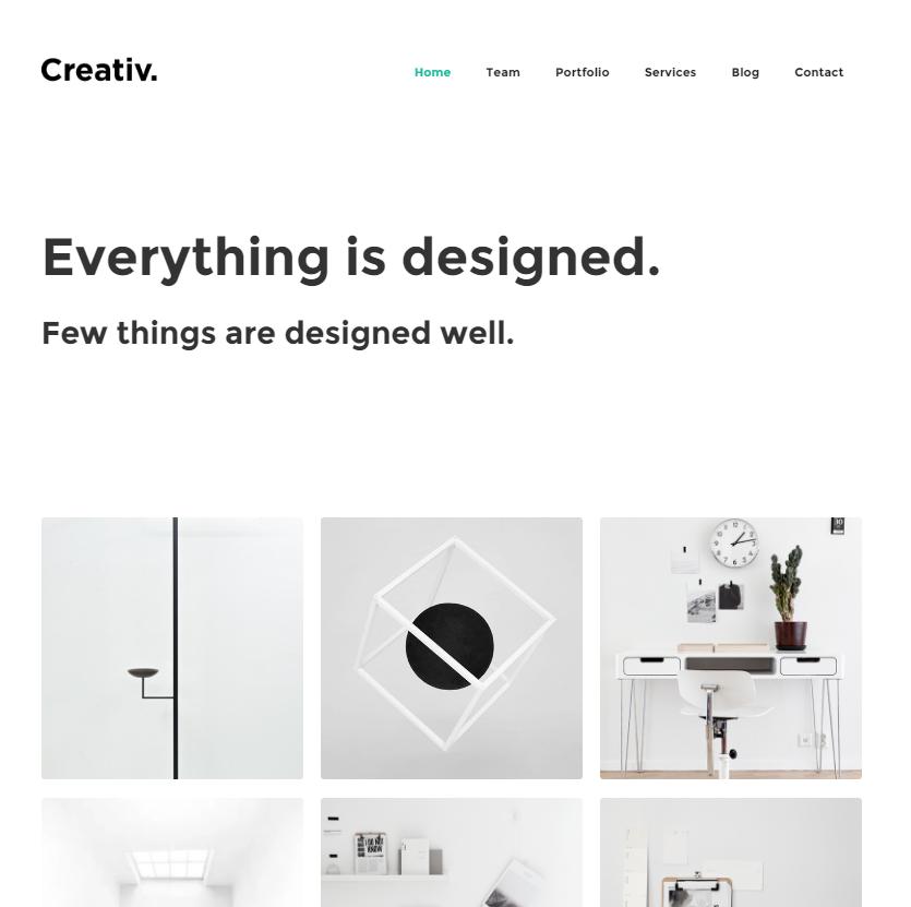 Creativ Webflow theme
