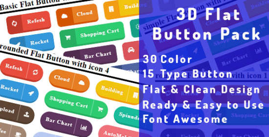3d_flat_button_pack