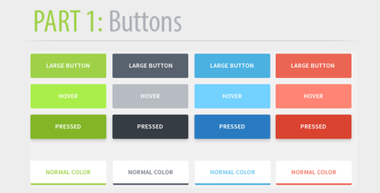 flattened_unique_css3_button_pack