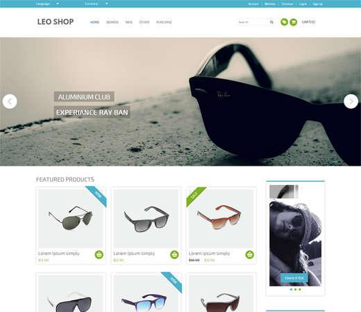 leoshop_flat_responsive_web_template