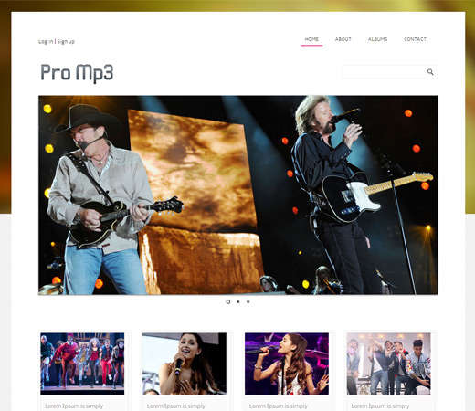 promp3_online_shopping_music_mobile_website_template