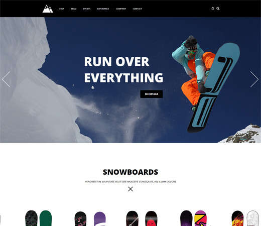 snowboarding_html_ecommerce_website_template