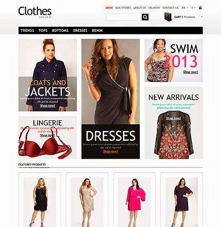 clothes free prestashop template