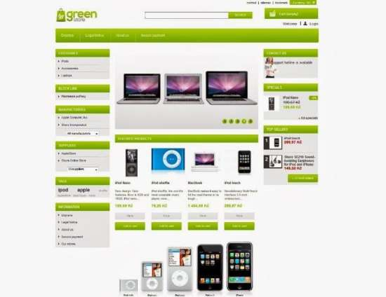 greenstore free prestashop template