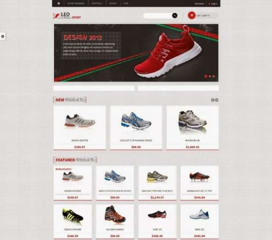 leo sport shoes free prestashop template