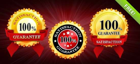 free_3_satisfaction_guaranteed_badges_template