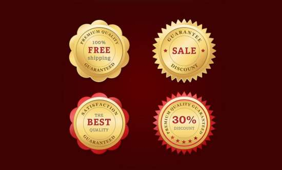 free_psd_golden_web_badges