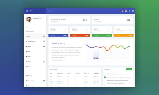 free_infinity_dashboard_template_psd