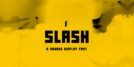 slash_bold_badass_display_font