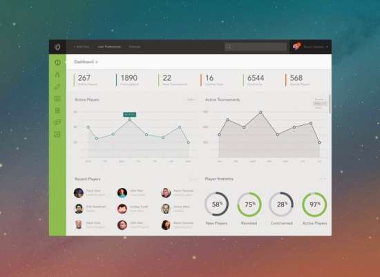 free_dashboard_psd_template