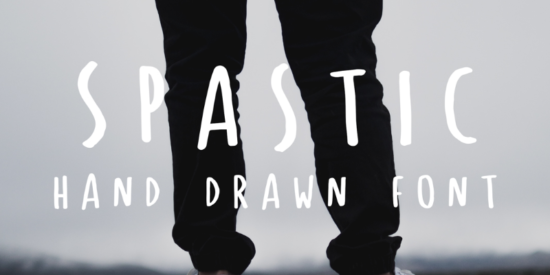 spastic_free_hand_crafted_typeface