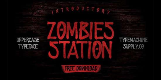 free_zombie_handmade_font