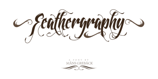 feathergraphy_cartoon_font