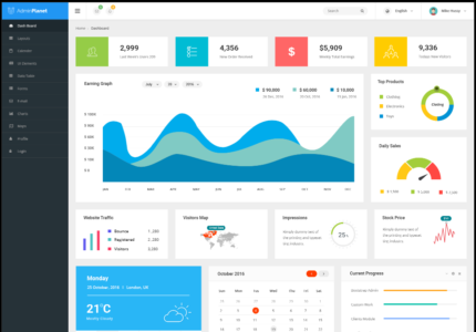 Admin Planet dashboard template