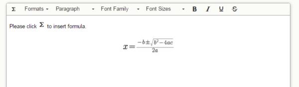 TinyMCE4 Formula Editor