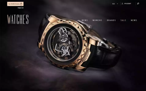 Watches Flat Ecommerce Bootstrap Web Template