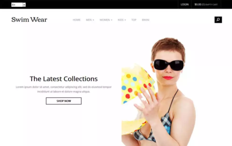 Swim Wear Bootstrap eCommerce Template