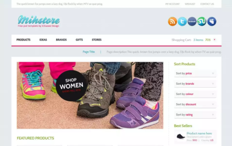 Mih Store HTML Template