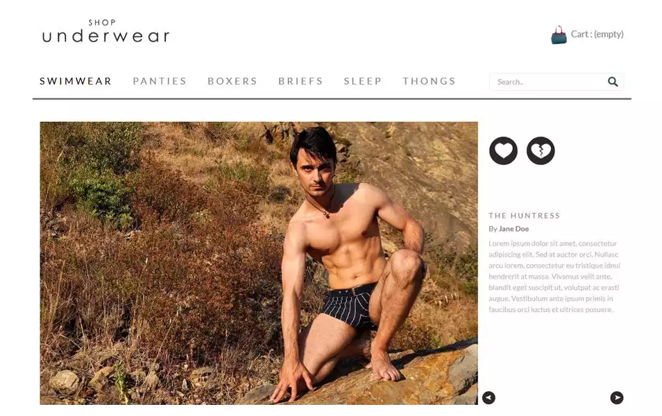 Shop Under Wear HTML Template