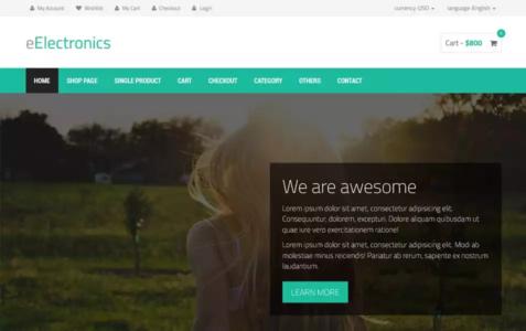 eElectronics HTML Template