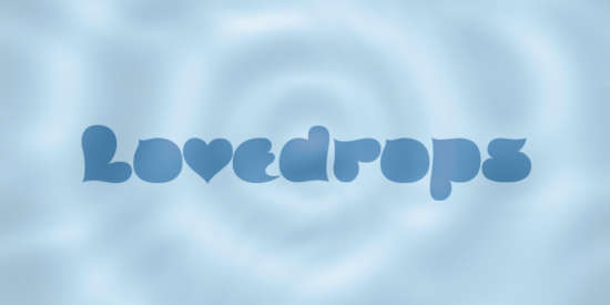 lovedrops_cartoon_font