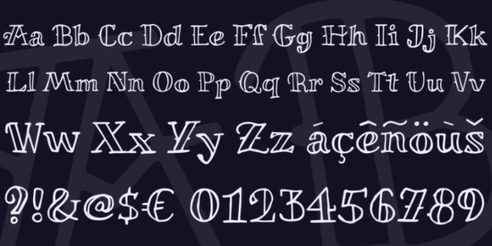 miltonian_playful_outlined_font