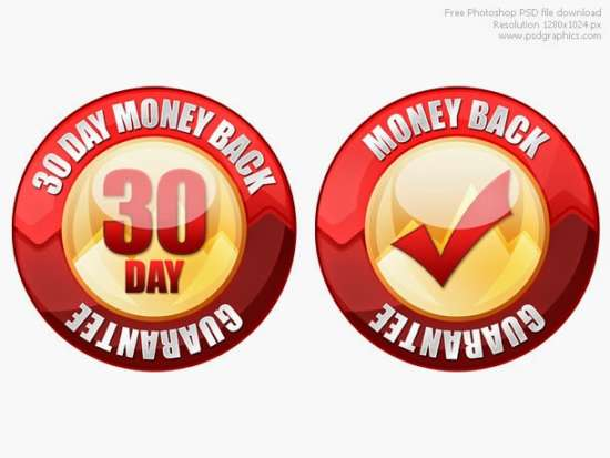 free_money_back_guarantee_seal_psd_template