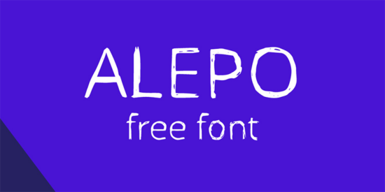 alepo_rough_sketch_font