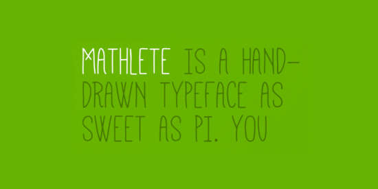 mathlete_uppercase_hand_drawn_font