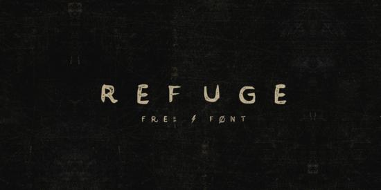 refuge_handcrafted_vintage_font